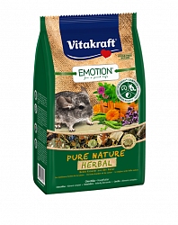 Основной корм для шиншилл Vitakraft Emotion Pure Nature Herbal с травами, 0,6 кг